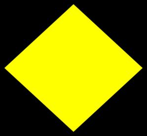 298x276 Shapes Clipart Yellow Diamond