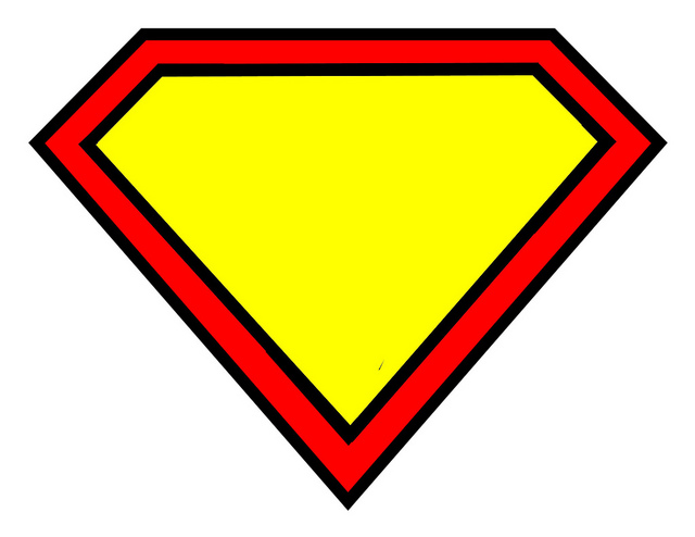 640x494 Superman Diamond Shape Clip Art