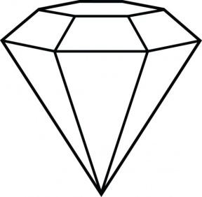288x282 Diamond Shape Clipart Black And White