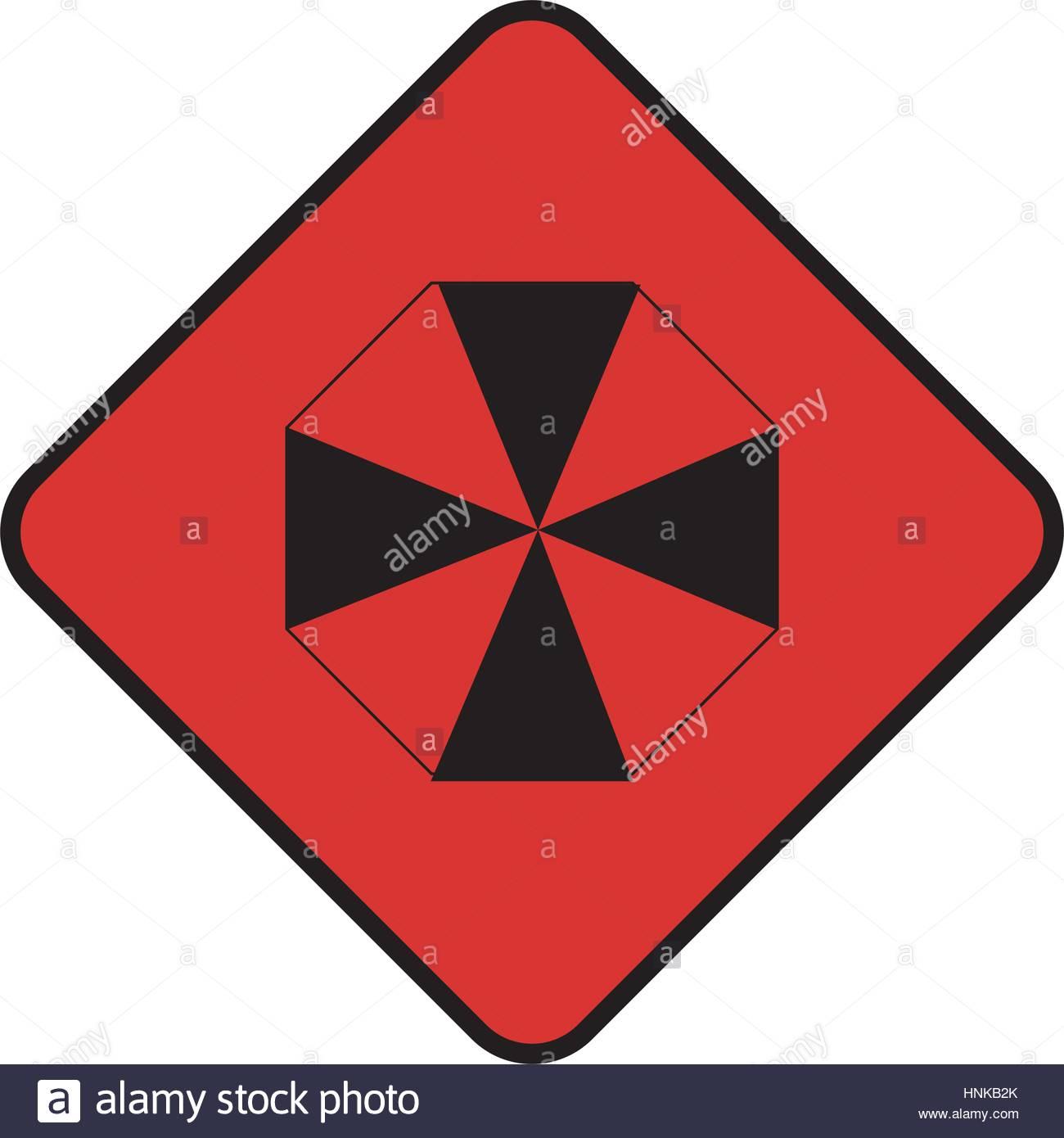 1300x1390 Diamond Shape With Hazard Symbol Vector Illustration Stock Vector