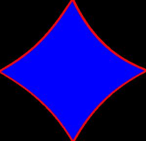 299x288 Blue Diamond Shape Clip Art Dromghk Top 2