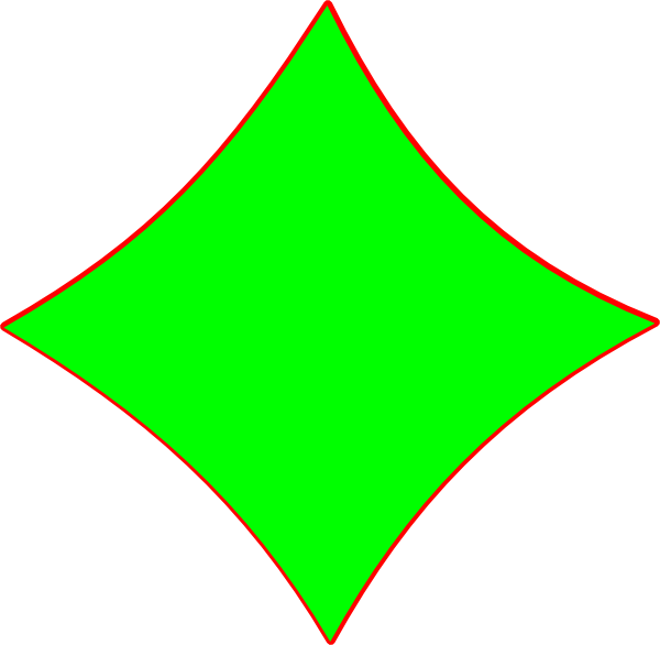 600x586 Bright Green Diamond Shape Clip Art