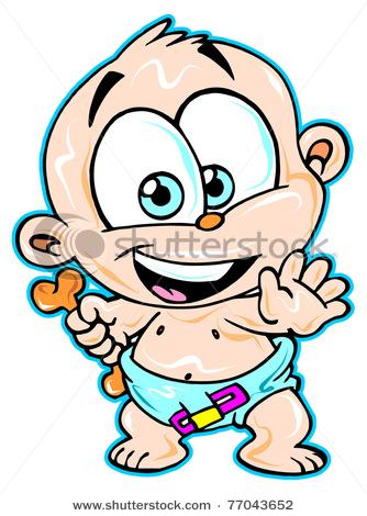 334x470 Cute Baby Boy Clipart