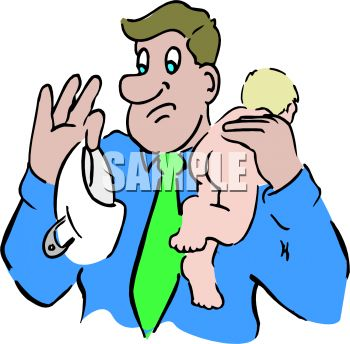 350x344 Dad Holding A Naked Baby And Dirty Diaper