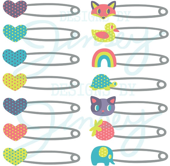 570x557 Baby Safety Pin Clipart