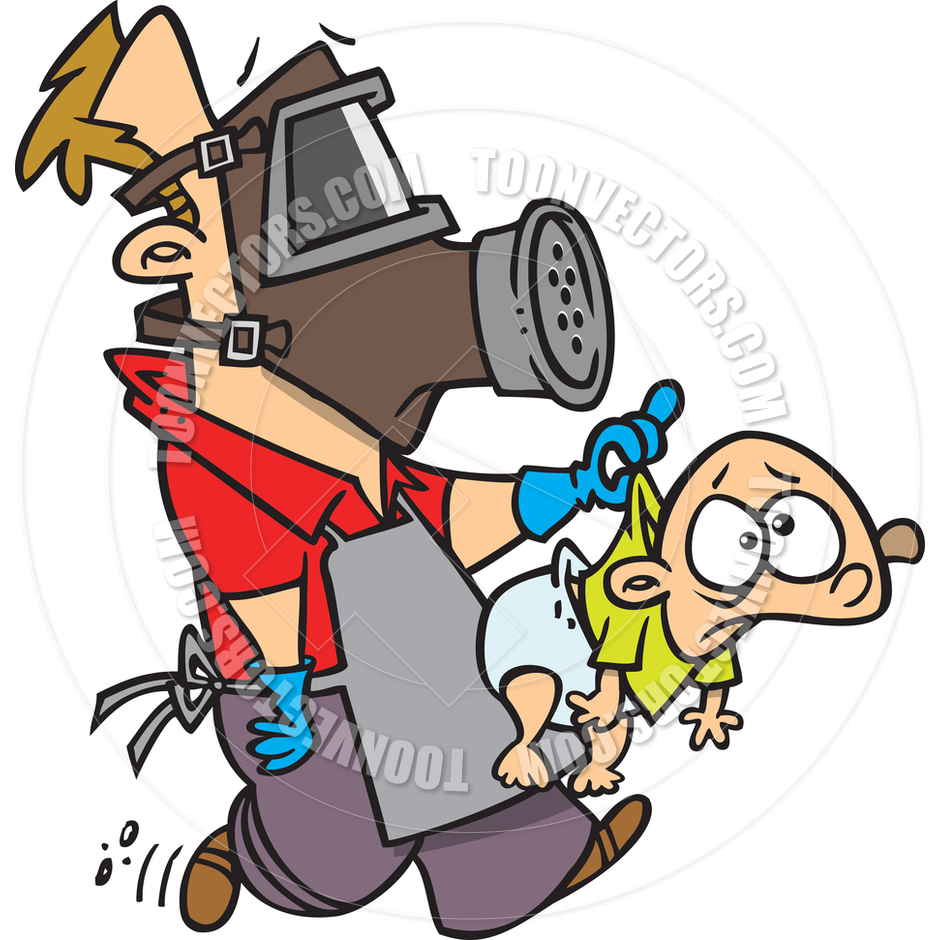 940x940 Cartoon Man Changing Diapers By Ron Leishman Toon Vectors Eps