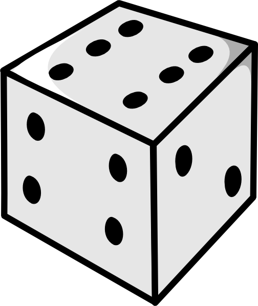 504x598 Free Black And White Dice Clipart