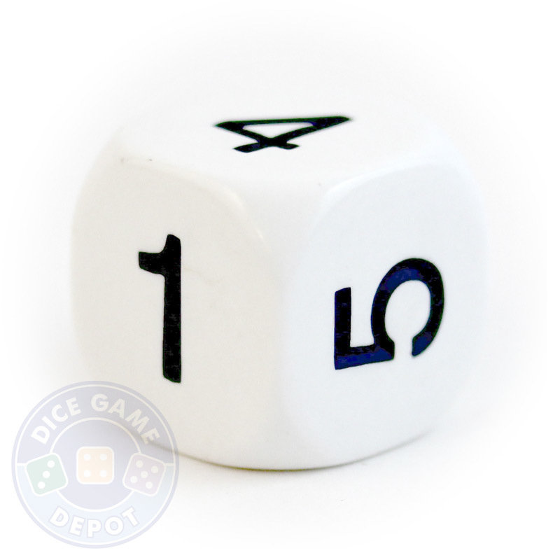 800x800 6 Sided Dice With Numerals Dice Game Depot