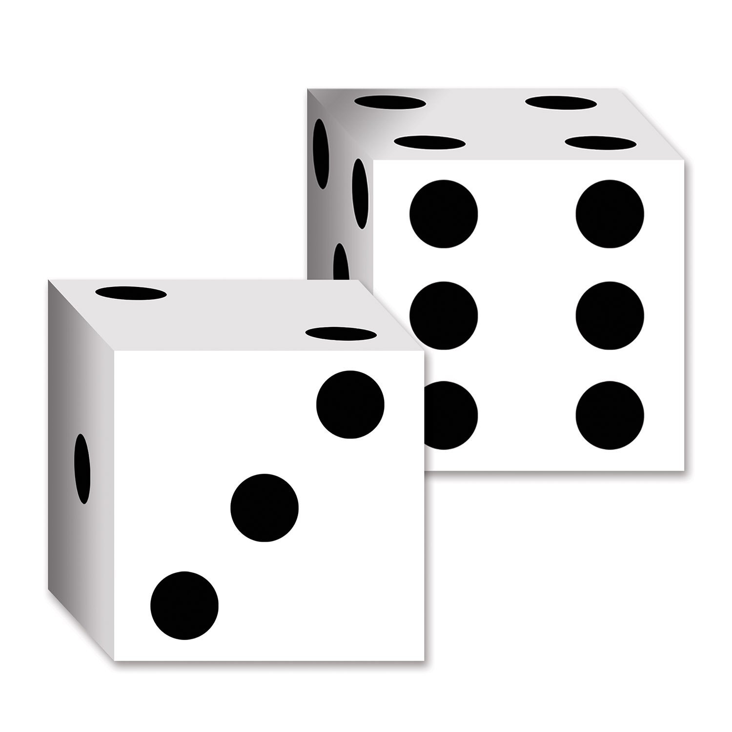 1500x1500 Beistle 54132 2 Pack Dice Card Boxes, 6 12 Inch By 6
