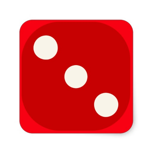512x512 Dice Clipart Number Three
