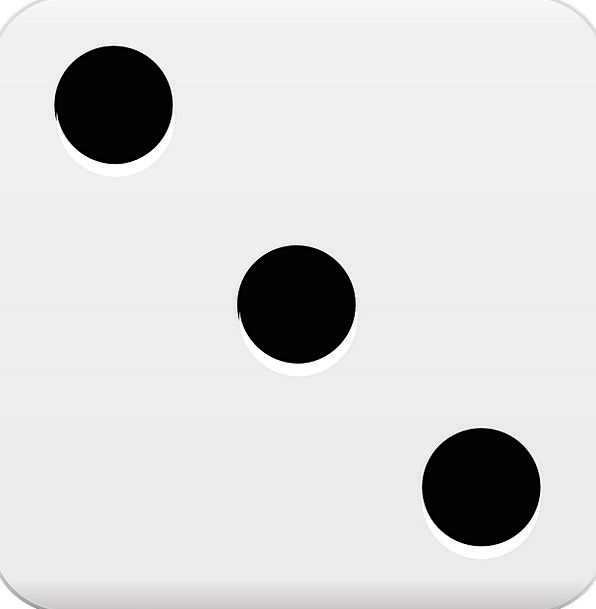 596x609 Dice, Reel, Three, Roll, Cube, Dots, Spots, Chance, Luck, Risk