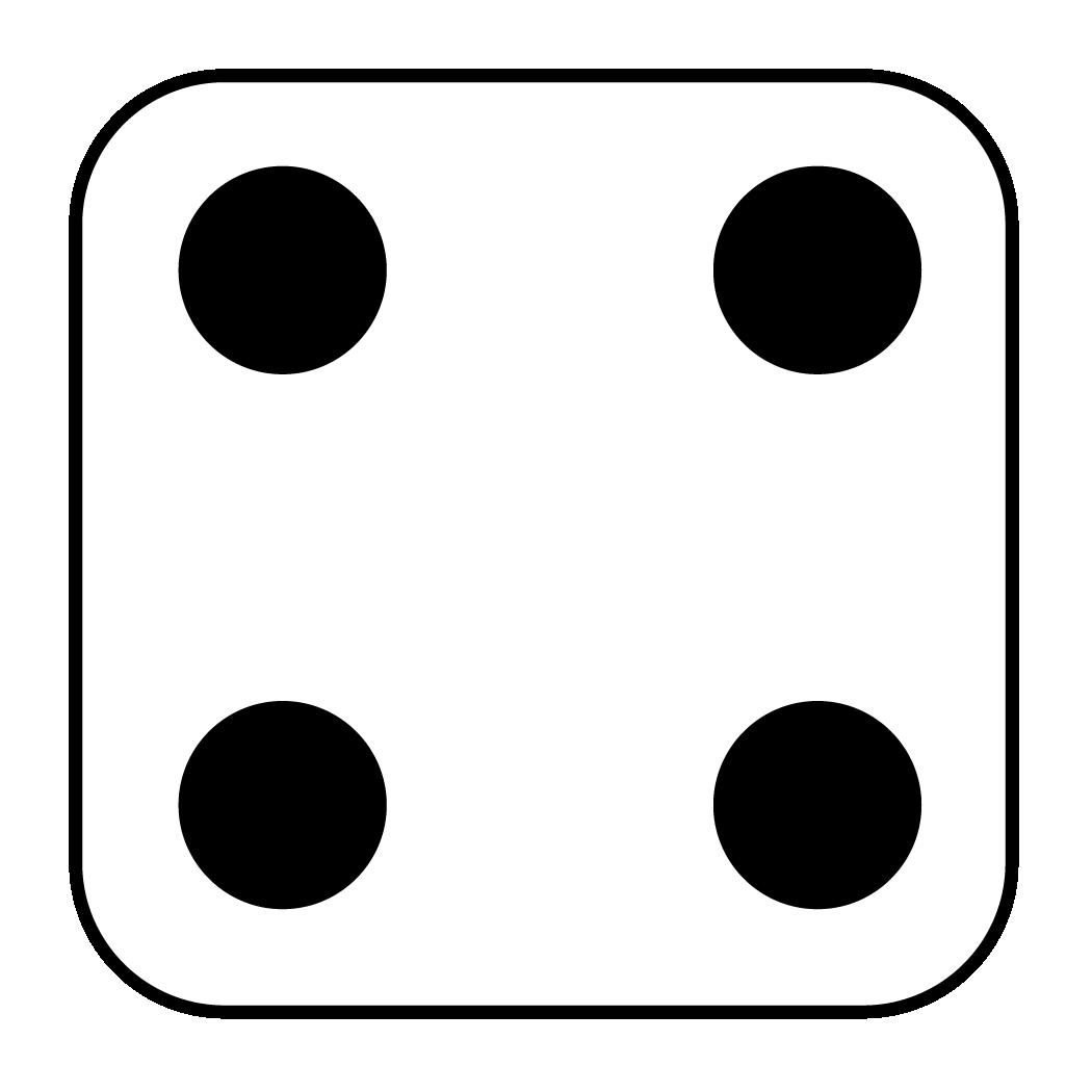 1050x1050 8 Dots Dice Clipart