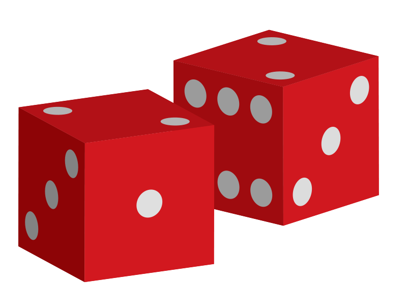 800x603 Free Red Dice Clip Art
