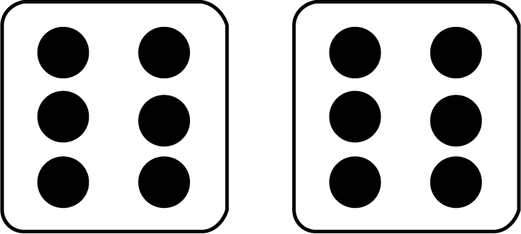 735x331 Math Clip Art Two Dice With 12 Showing
