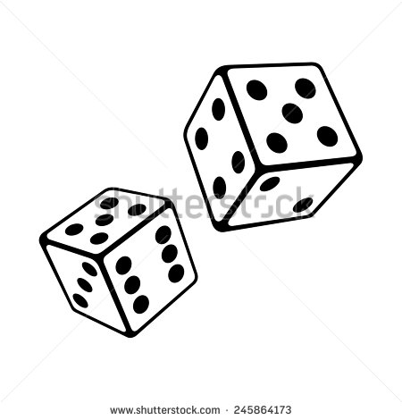 450x470 Roll The Dice Clipart