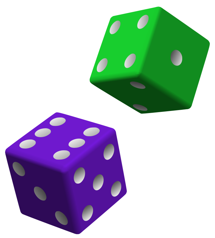 721x800 Rolling Dice Clipart Free Images