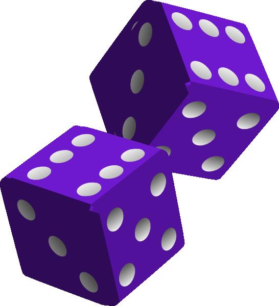 546x600 Two Purple Dice Clip Art