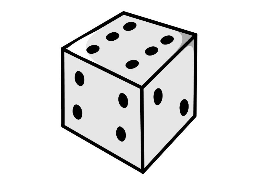 Dice Clipart Black And White