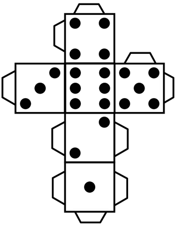 353x500 Printable Dice Public Domain Vectors