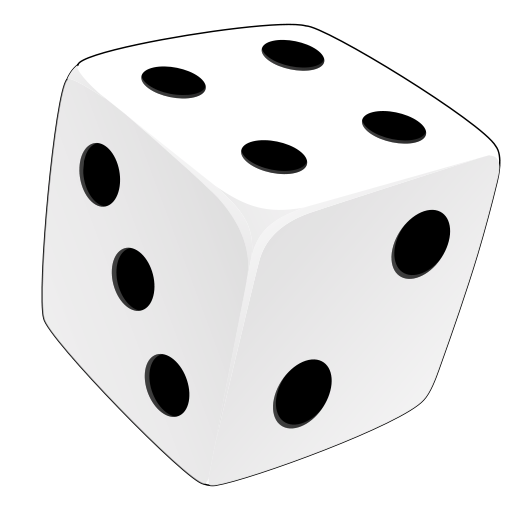531x512 Black And White Dice Clipart