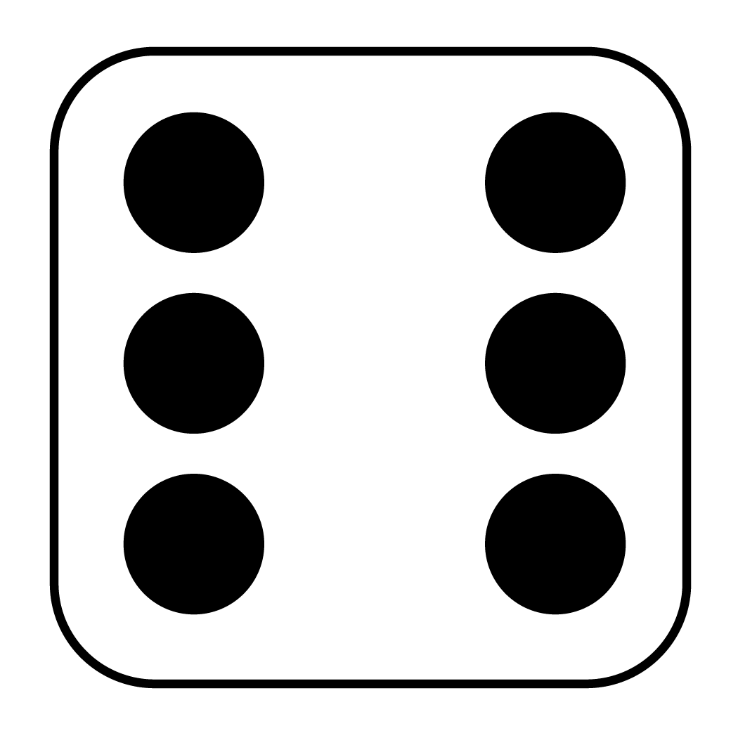 1050x1050 Dice Clipart Number Six