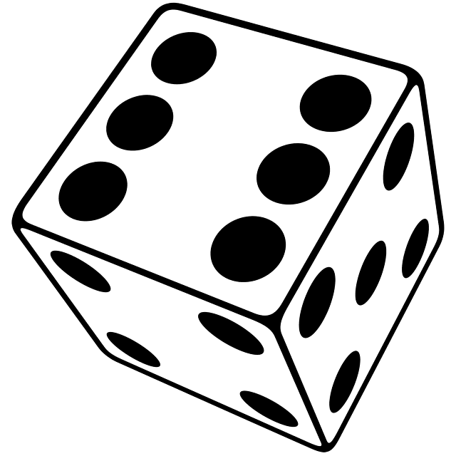 640x640 Dice Clipart Six Sided
