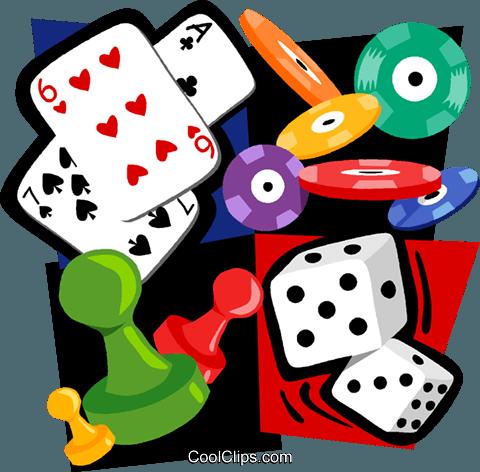 480x472 Gambling Motif, Cards, Poker Chips, Dice Royalty Free Vector Clip