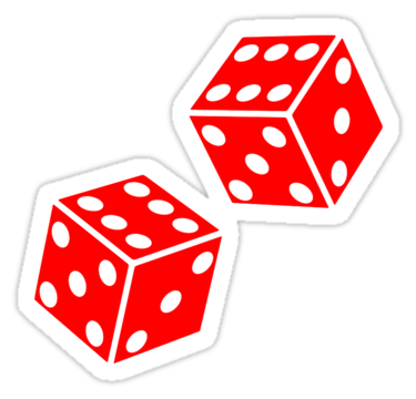 375x360 Lucky, Double Six, Dice, Red Dice, Throw The Dice, Casino, Game