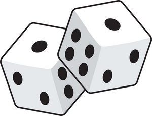 300x228 One Dice Clipart Free Clipart Images
