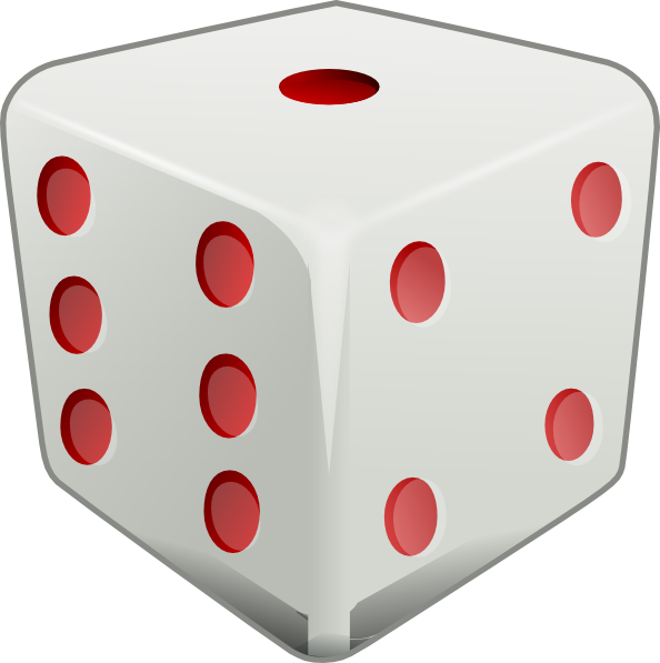 594x597 Red Dice Clip Art
