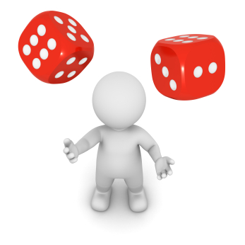 347x346 Roll The Dice Clipart
