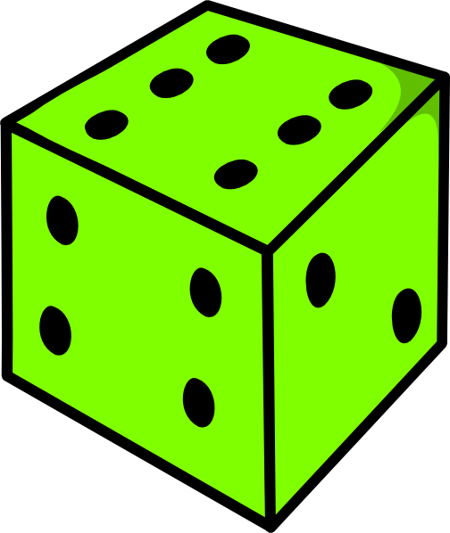 504x598 Green Dice Clip Art