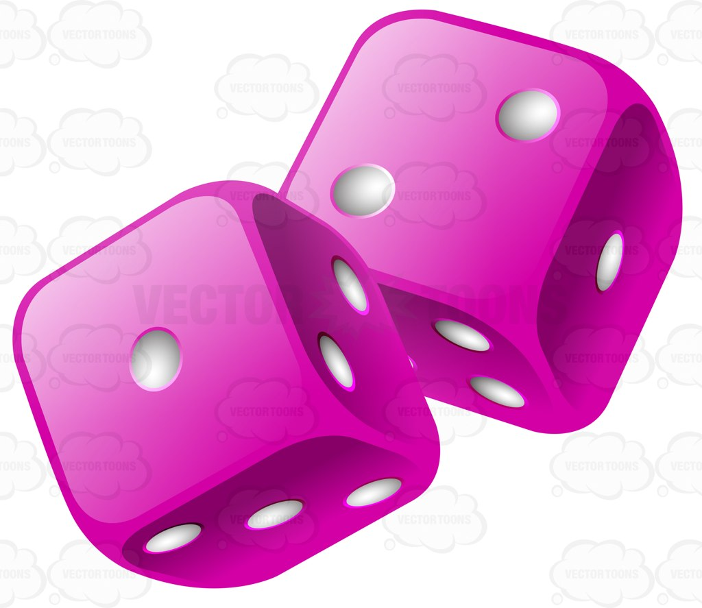 1024x887 Two Glossy Violet Rounded Dice Cartoon Clipart
