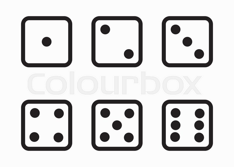 800x571 Two Vector White Dice Stock Vector Colourbox