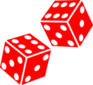 300x273 1 Dice Clipart Six Sided Dice