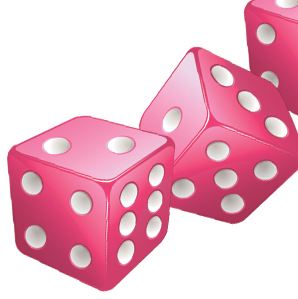 298x299 3 Bunco Dice Clipart