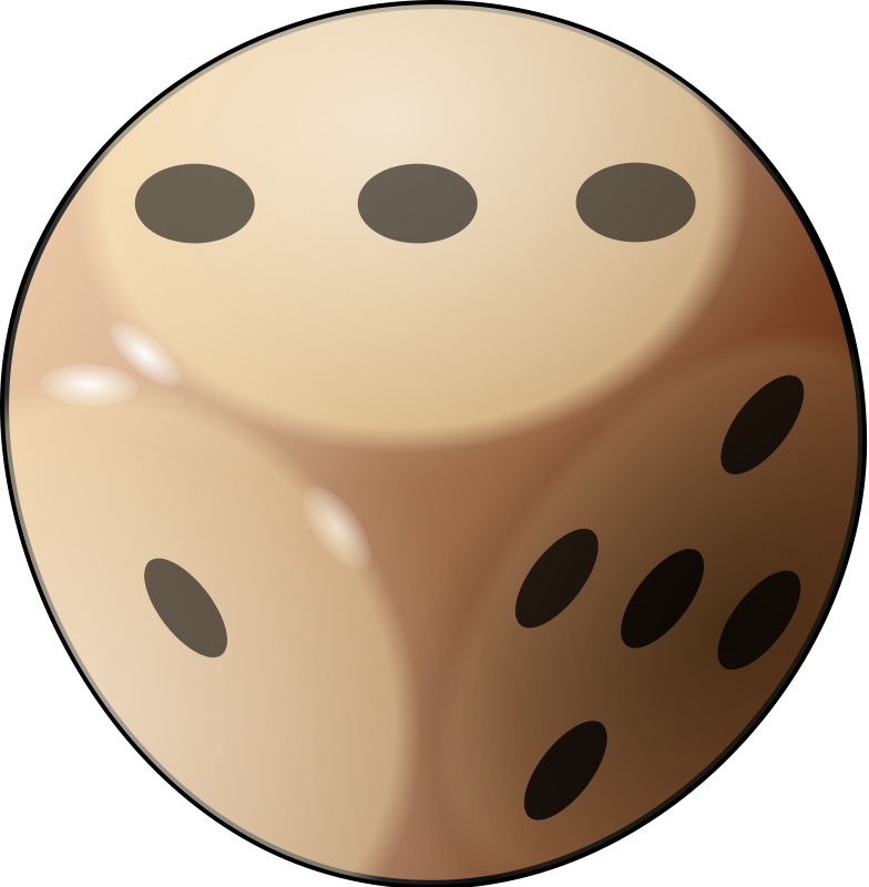 784x800 Dice Clipart Number Three