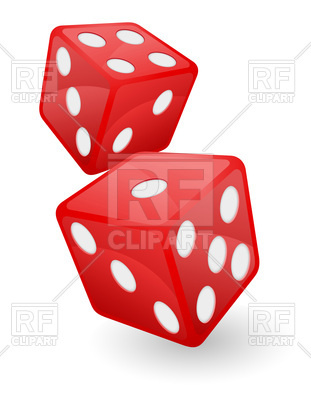 311x400 Red Casino Dice Royalty Free Vector Clip Art Image