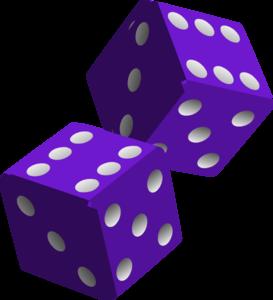 273x300 Two Purple Dice Clip Art