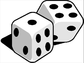 350x262 Dice Clipart Number Five