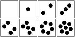 256x128 6 Dice Dots Clipart