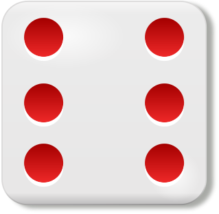 319x313 6 Dice Face Clipart