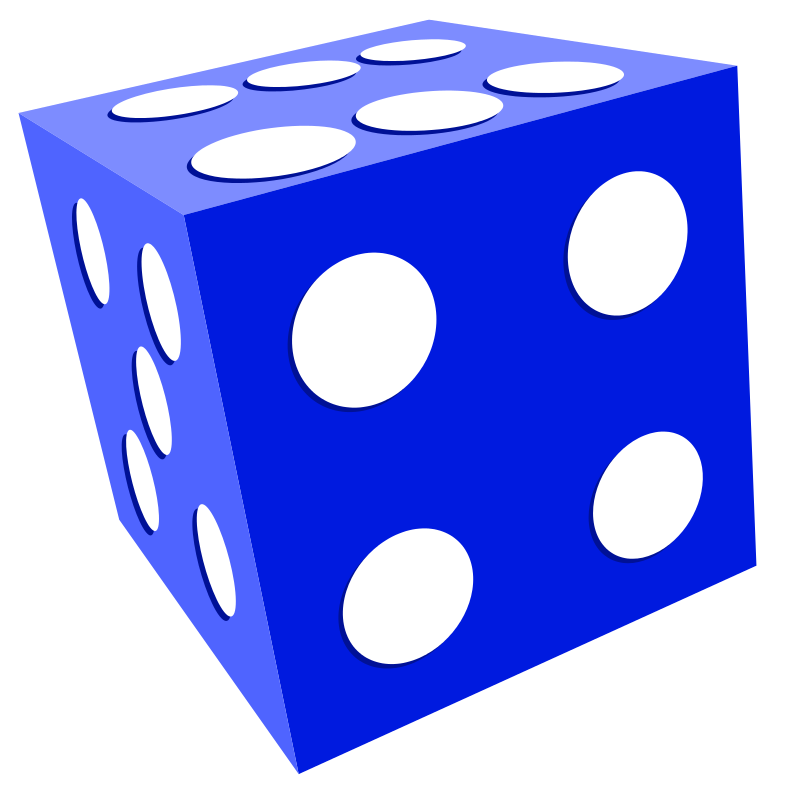 787x800 Blue And White Dice Clipart