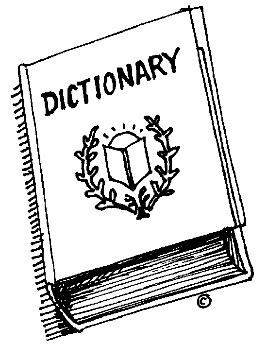 550x708 Word clipart dictionary