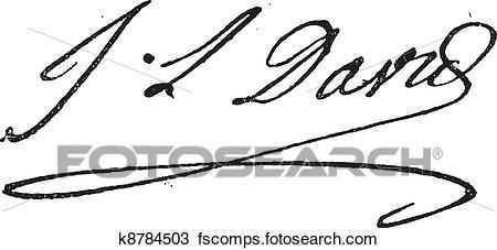 450x227 Clipart Of Signature Of Jacques Louis David (1748 1825), Vintage