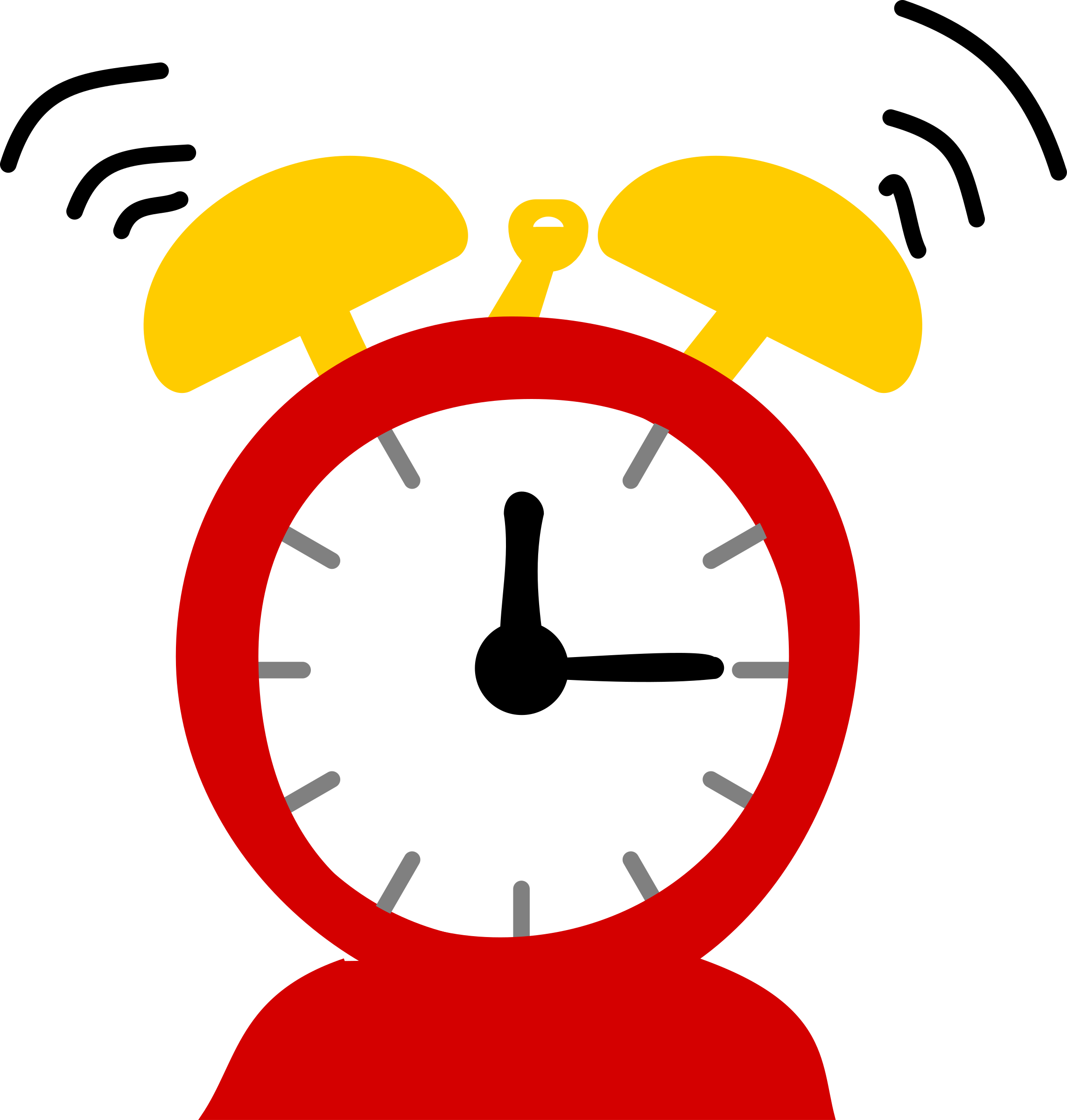 Digital Alarm Clock Clipart