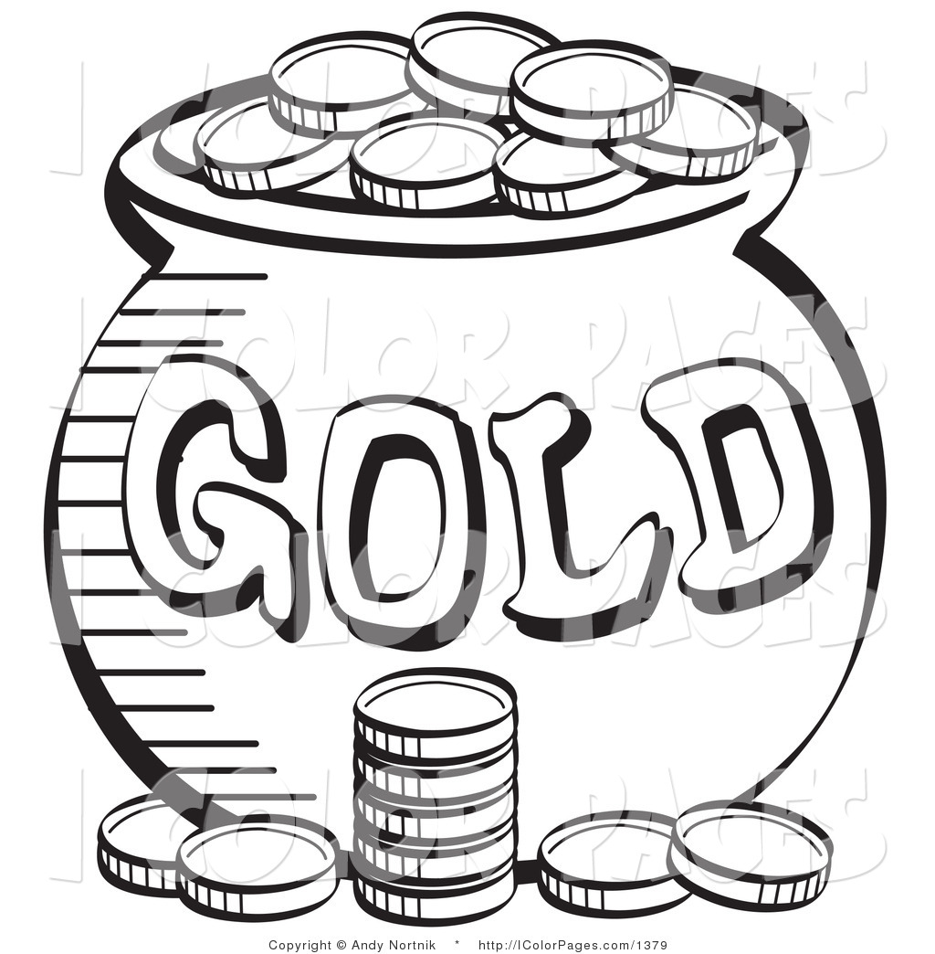 1024x1044 Coin Clipart Coloring Page