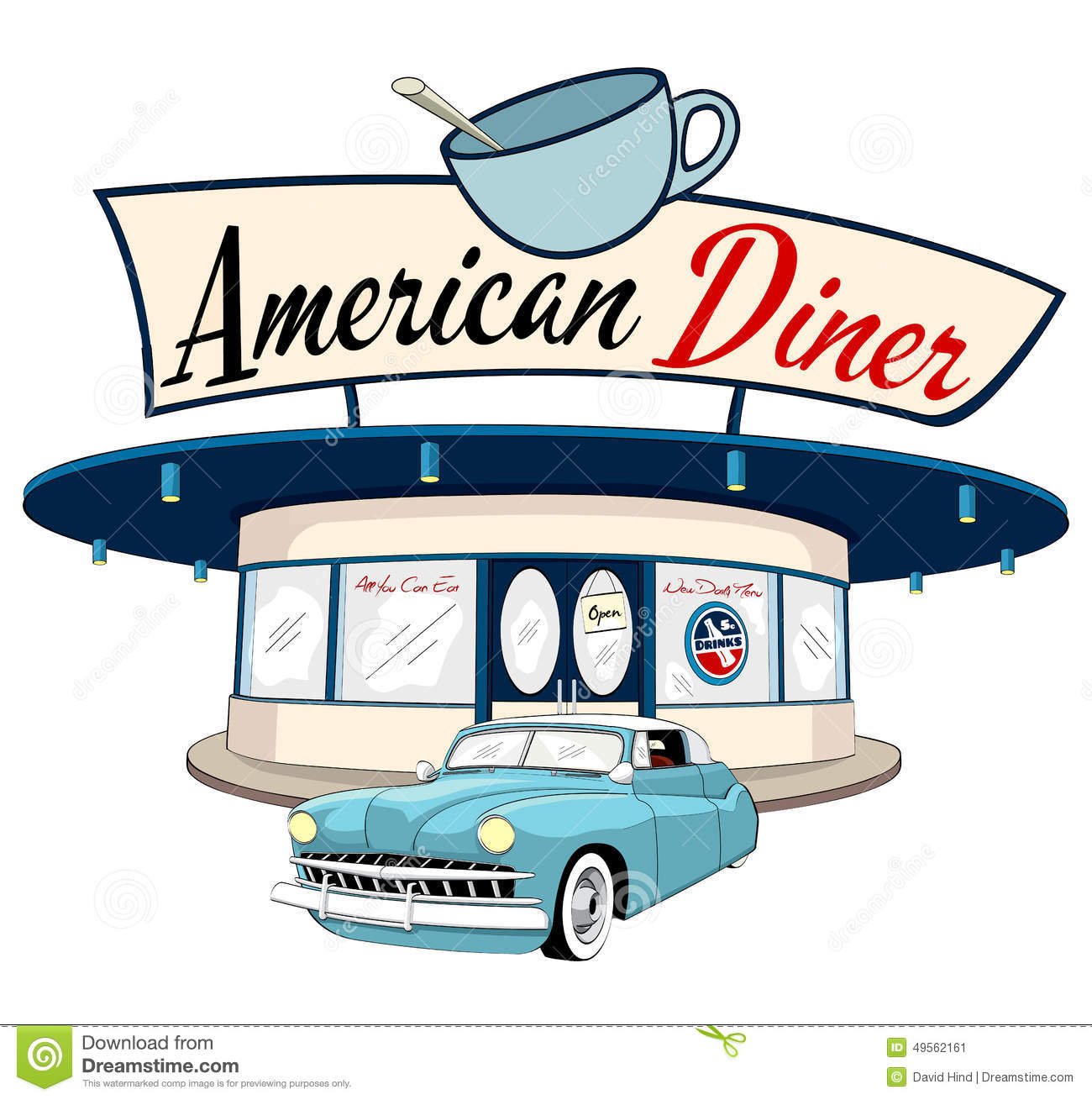 1300x1309 Diner Clipart American Diner