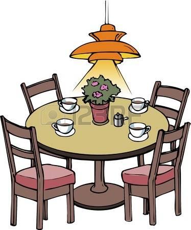 374x450 Dinner Table Clip Art Dining Clipart