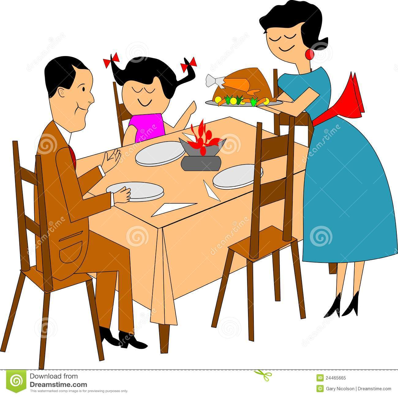 Cartoon Dining Room: Free Download Best Dining Table